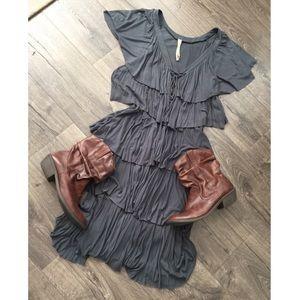 DRESSED fringe tiered dress! Size Large